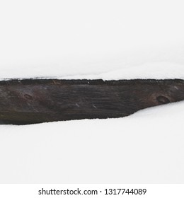 Abstract wood with snow