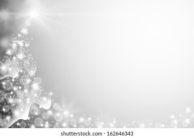 abstract  Xmas background with snowflakes