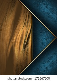 Abstract yellow background with blue ribbons.