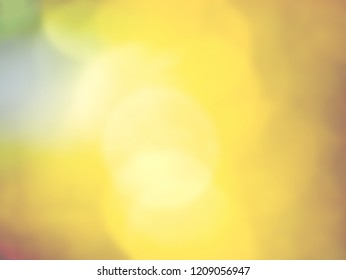 Abstract yellow  bokeh background. Abstract bokeh background of holiday. Golden Bokeh. Flickering Lights.