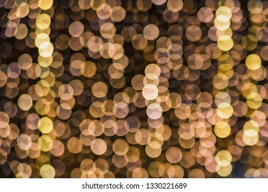 Abstract yellow holiday lights blur for festive background