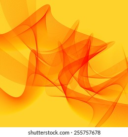 Abstract yellow line art background