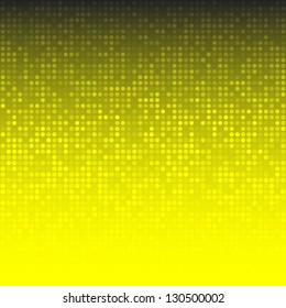 Abstract Yellow Technology Background, raster illustration
