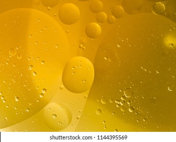 Abstract Yellow water bubbles background