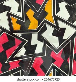 abstract zigzag geometric seamless pattern  (raster version)