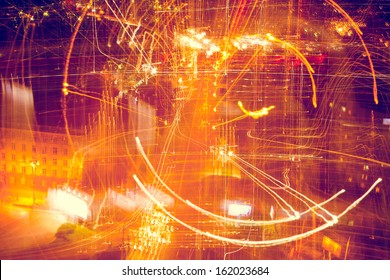 Abstractbackground with bokeh defocused lights