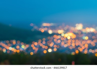 Abstracted Skyline of Reading, Pennsylvania at Night