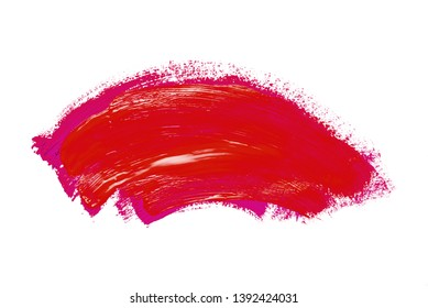 Abstraction for the background, drawing with colorful paints on a white isolated background. Horizontal frame