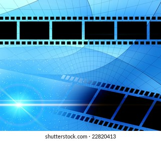 Abstraction background with film