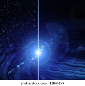 Abstraction blue glow background