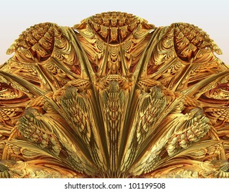 abstraction - carving art - abstract background. raster fractal graphics
