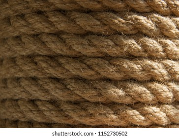 Abstraction coil of braided rope.