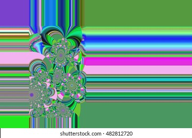 abstraction in color with fractals and lines for wrapping paper, design, book cover, text