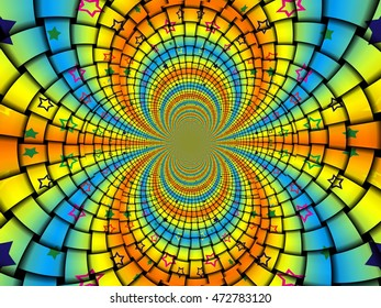 Abstraction color on textiles, wallpaper, design, wrapping paper. fractal