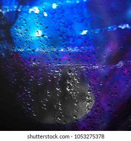 abstraction with drops of water