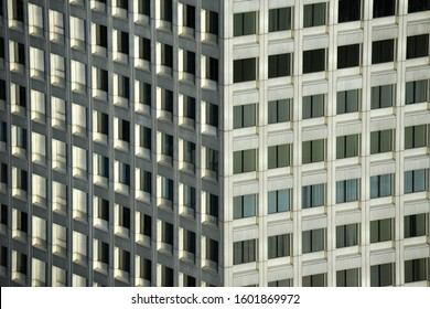 Abstraction photo of the geometry shape of the part of building in Tokyo, Japan