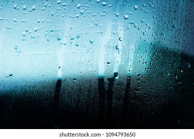 abstraction of water on glass