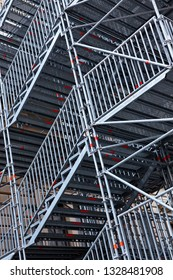 Abstract.Metalic scaffolding with .LinesMetalic stairsMetal constructionArchitecture