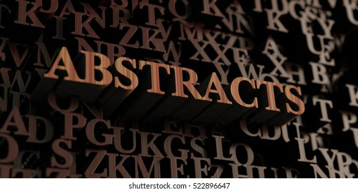 Abstracts - Wooden 3D rendered letters/message.  Can be used for an online banner ad or a print postcard.