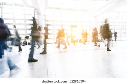 abstrakt image of people in the lobby motion blur