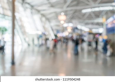Abstrast Blurred background : airport departure terminal area