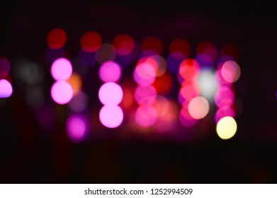 Abstrct blurred bokeh image of light in concert show.
