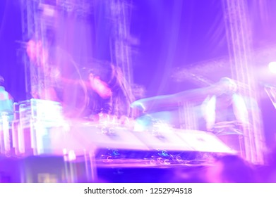 Abstrct blurred image of light in concert show.
