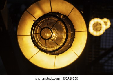 abstruct image. street industrial lamps closeup