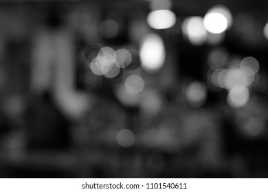 abtract blur bokeh lights, black and white background
