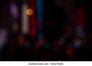 Abtract night light of city for background