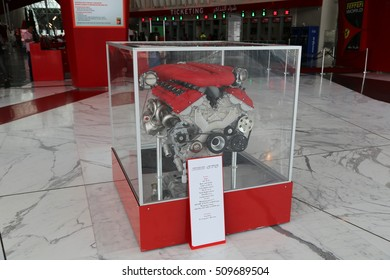 ABU DHABI - 23 MAY: Ferrari World in Abu Dhabi on 23 May 2016