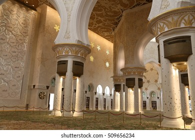 ABU DHABI - 23 MAY: Sheikh Zayed Mosque in Abu Dhabi on 23 May 2016
