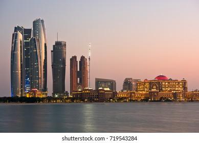 Abu Dhabi buildings skyline