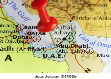 Abu Dhabi capital city of U.A.E. Copy space available.