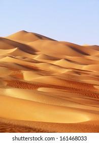 Abu Dhabi - changing patterns of the Liwa Desert, which is part of the Rub al Khali Desert or Empty Quarter, straddling UAE, Oman, Yemen and Saudi Arabia