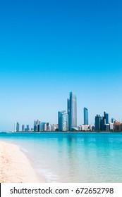 Abu Dhabi city scene from the marina island