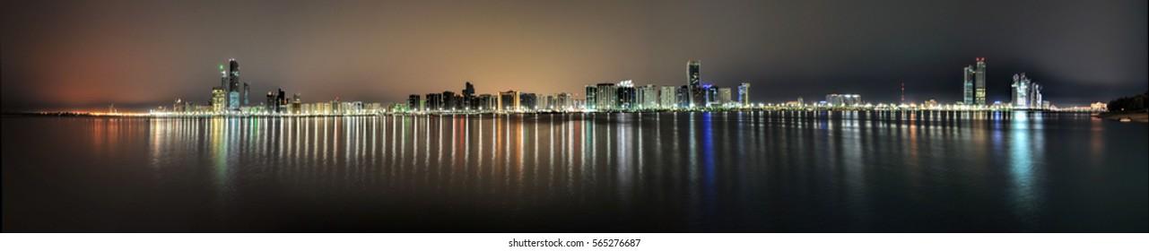 Abu Dhabi Cityscape Night