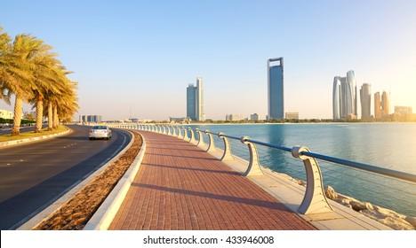 Abu Dhabi, Corniche Road. Evening