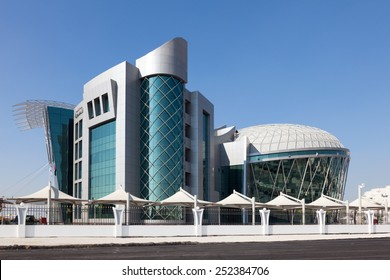 ABU DHABI - DEC 21: Emirates Identity Authority building in Madinat Khalifa, Abu Dhabi. December 21, 2014 in Abu Dhabi, UAE