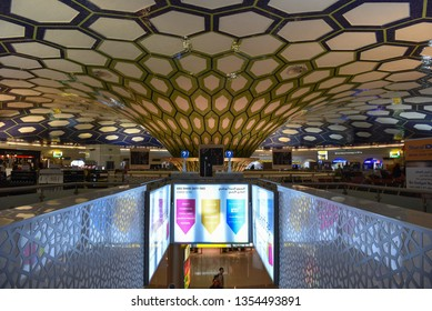 Abu Dhabi Int'l Airport Interiors, UAE, October, 2017
