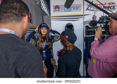 Abu Dhabi - MARCH 12: Media meeting and test flights in Al Bateen Airport on Red Bull Air Race World Championship 2016 in United Arab Emirates on March 12, 2016 in Abu Dhabi, UAE