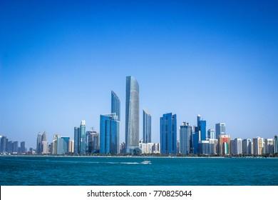 Abu Dhabi a modern city panorama