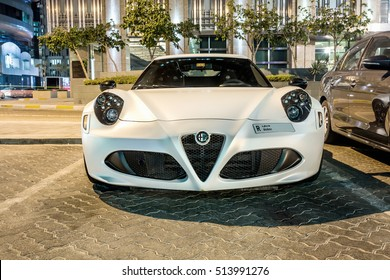 ABU DHABI - NOVEMBER 3, 2016: Alfa Romeo 4C Coupe in Abu Dhabi