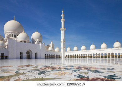 Abu Dhabi, Sheikh Zayed Grand Mosque, United Arab Emirates (UAE).