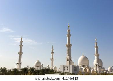 Abu Dhabi Sheikh Zayed White Grand Mosque, United Emirates Arab