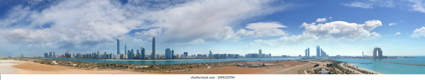 Abu Dhabi Skyline January 2018
