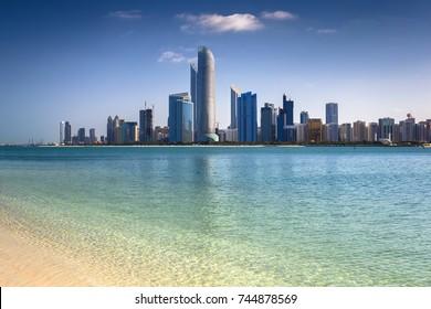 Abu Dhabi skyline, United Arab Emirates