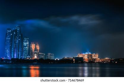 Abu Dhabi, UAE - 2016 ( Etihad towers & The Emirates Palace)