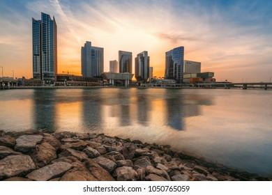 Abu Dhabi, UAE - 2017 - Al Maryah Island is a developing business, leisure and entertainment hub & Abu Dhabi's new Central Business District, Abudhabi, UAE.