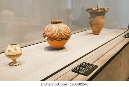 Abu Dhabi, UAE - 2018 - Historical Sculptures & Very old antiques coming from different places around the world, Abudhabi, UAE.